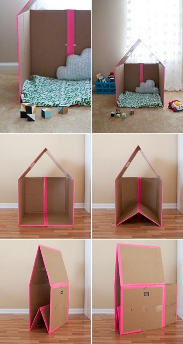 casa de papelao facil