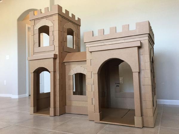 casa de papelao castelo
