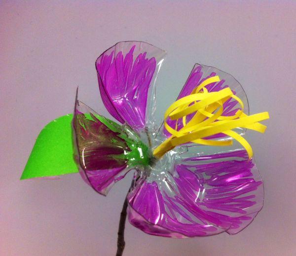 flor de pet com folha