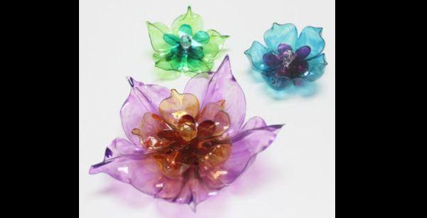 flor de pet transparente