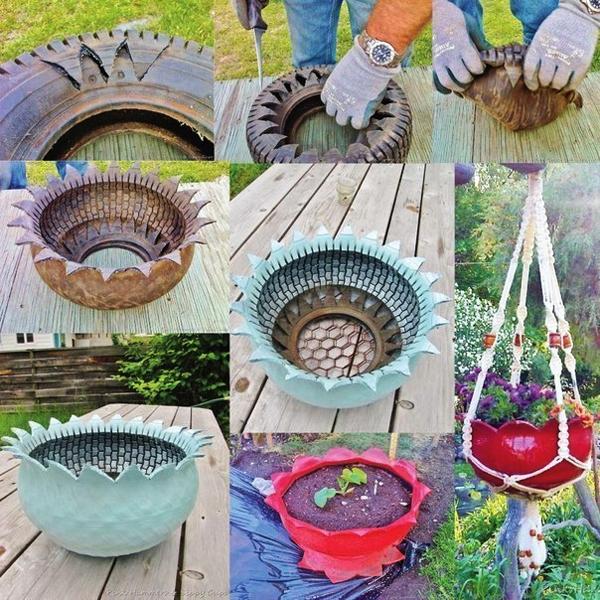 reciclagem de pneu vasinho