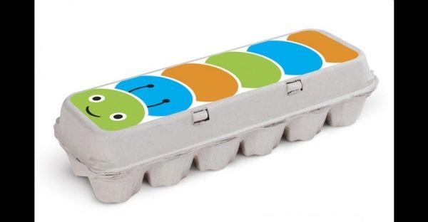 brinquedo reciclado de caixa de ovos