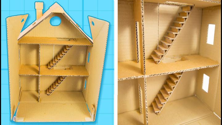 artesanato com papelão casinha
