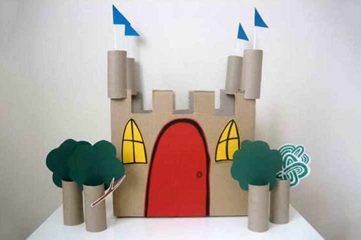 artesanato com papelão castelo