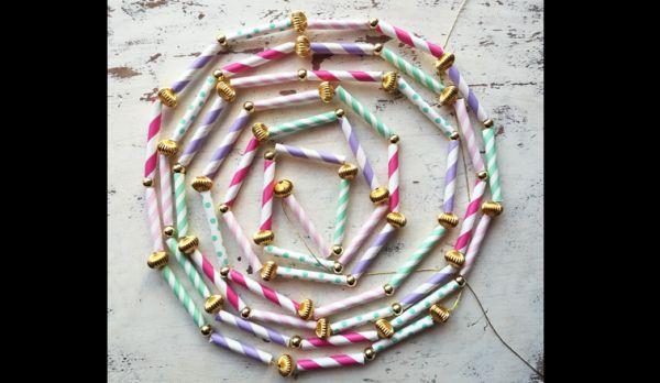 cordao canudinho de papel