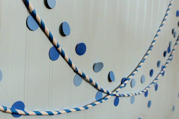 decoração canudinho de papel