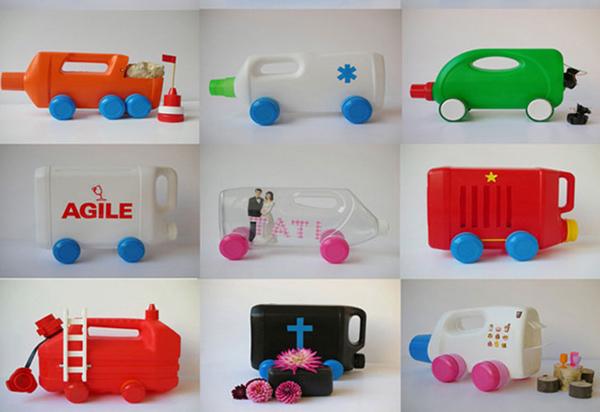 brinquedo reciclado de embalagem