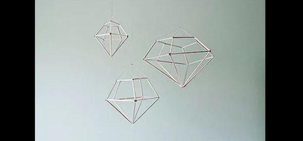 enfeite de teto canudinho de papel