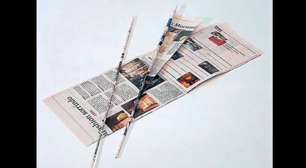 canudinho de jornal