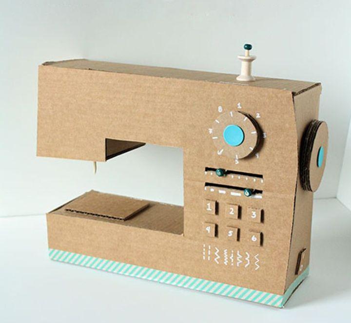 artesanato com papelão maquina