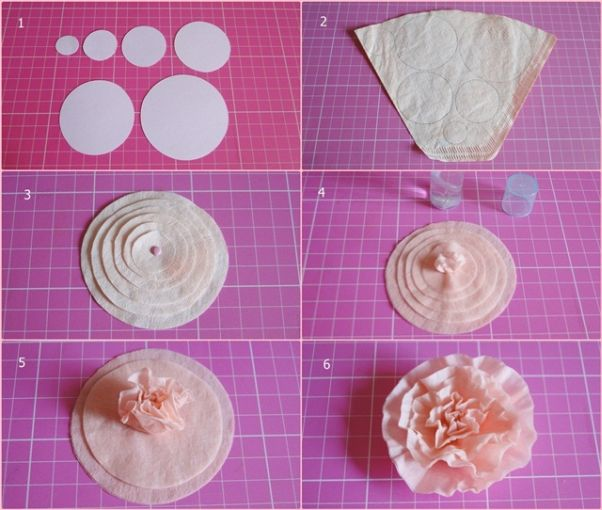 flor de papel filtro cafe