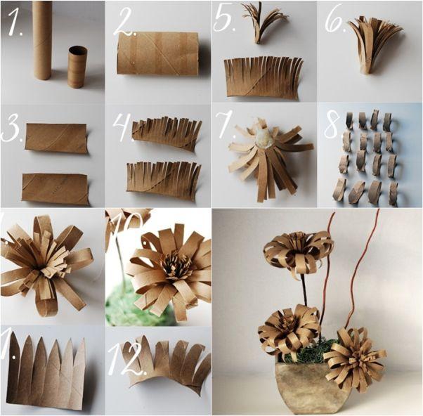 flor de papel higienico