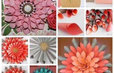 flor de papel na parede