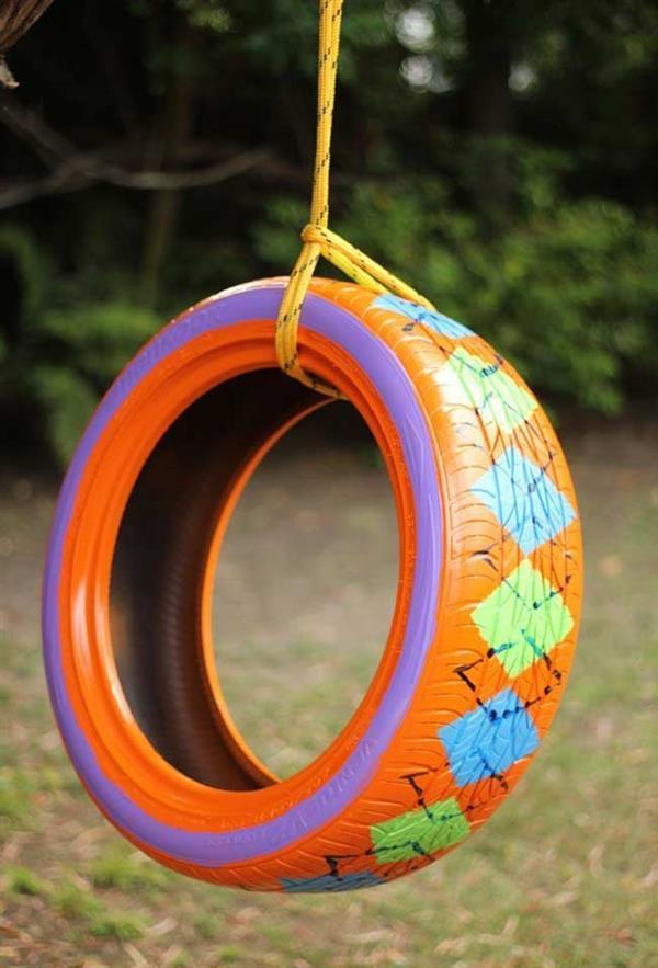 artesanato-com-pneus balanço