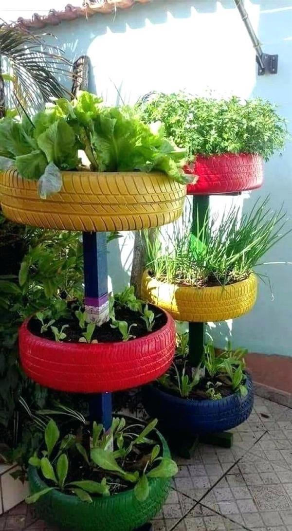 horta de pneus