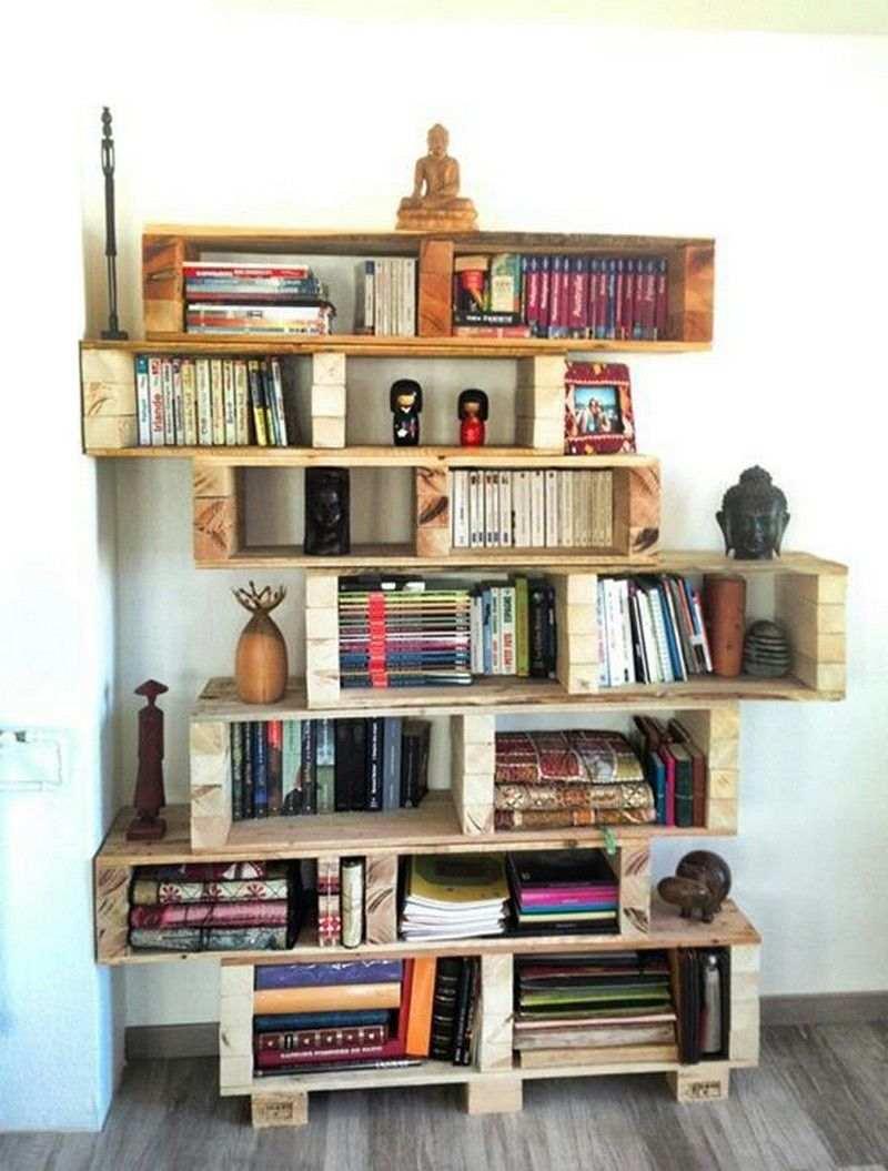prateleira de livros