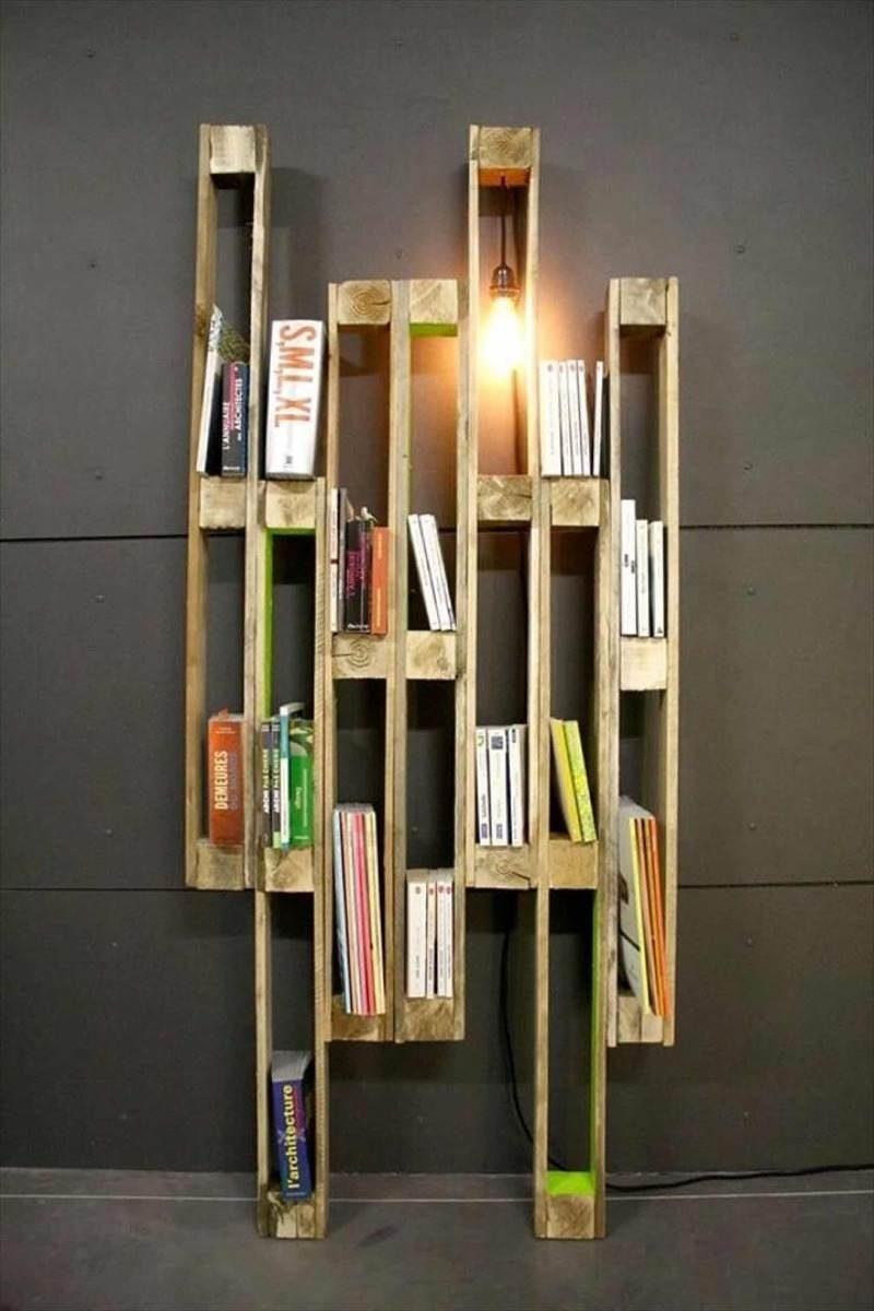 estante de livros artesanal