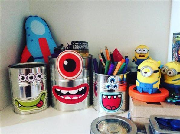 latas para organizar