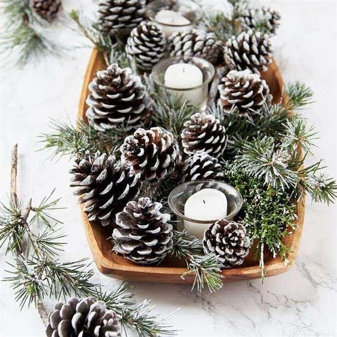 enfeite de natal com pinha