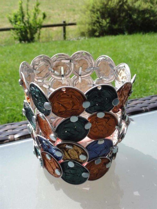 artesanato com capsulas de cafe vazias