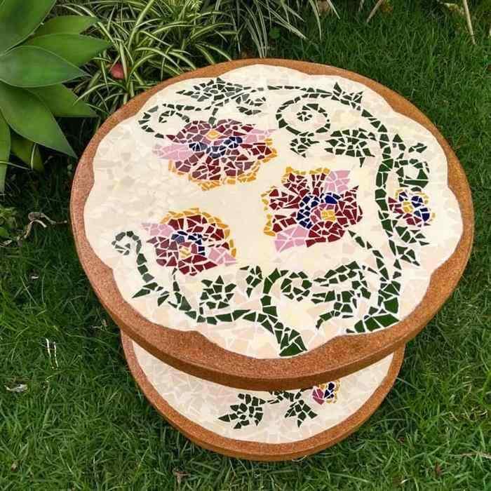 mesa de carretel para jardim
