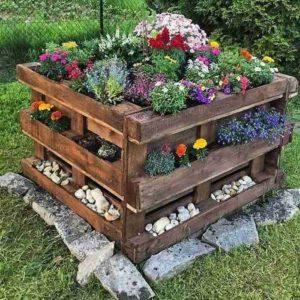 paletes para jardim de inverno