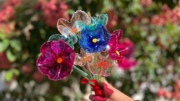 artesanato com garrafa pet para jardim