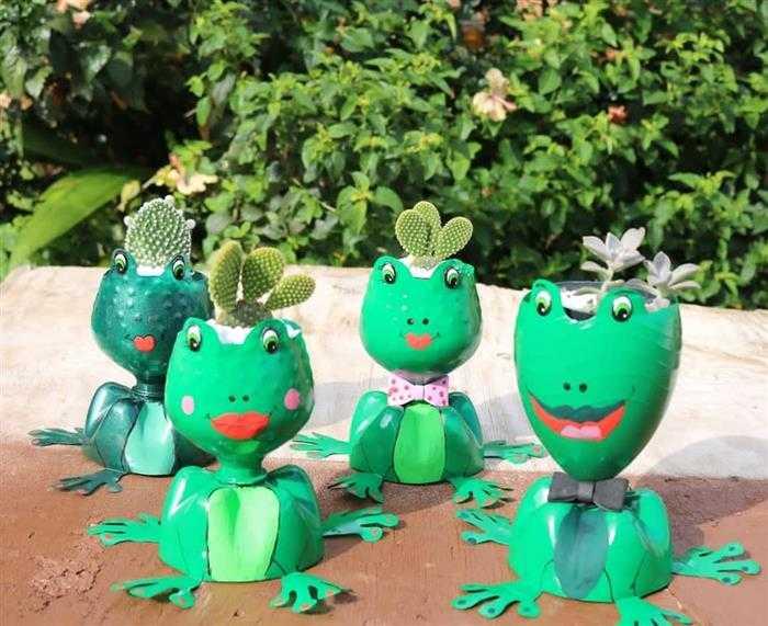 ideias com garrafa pet para jardim