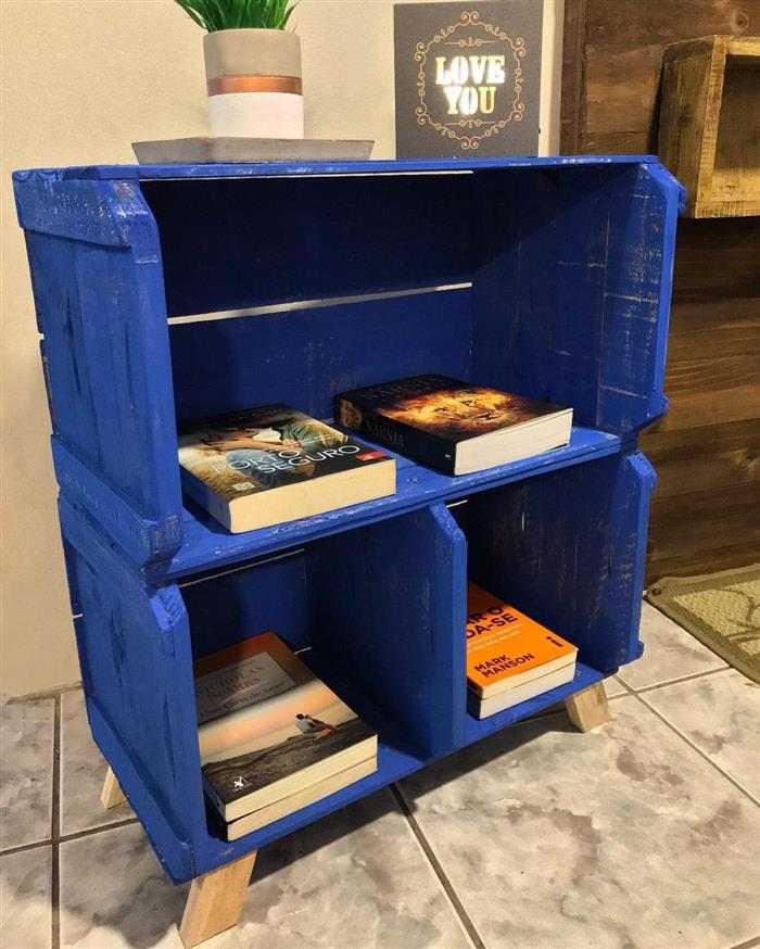 móveis de caixote de madeira