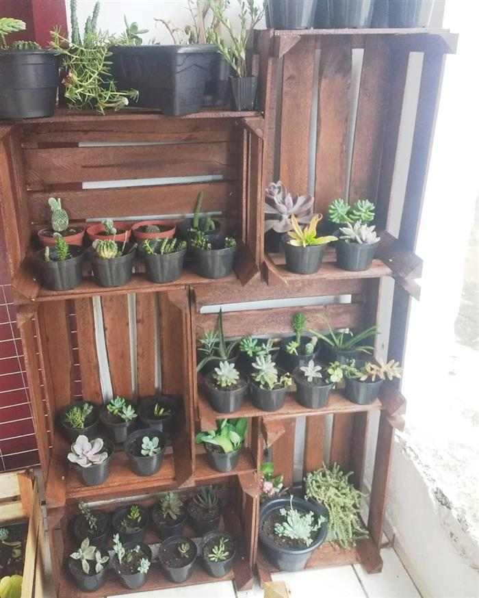 movel com caixote para plantas